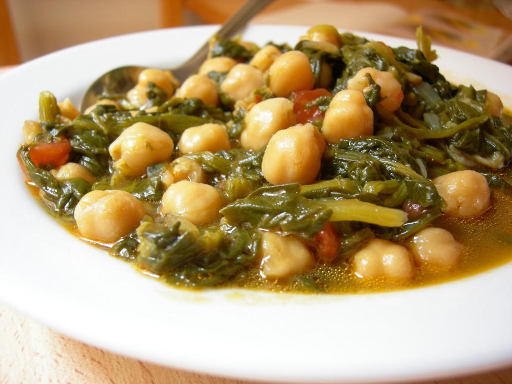 Garbanzos con espinacas as lo cocino - Potaje con bacalao y espinacas ...